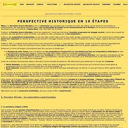 MUSIQUE CONTEMPORAINE - Compositeurs : perspective historique