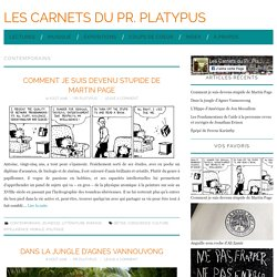 Contemporains Archives - Les Carnets du Pr. Platypus
