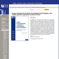 Rapports 2006 - Usages contemporains de plantes et champignons hallucinogènes