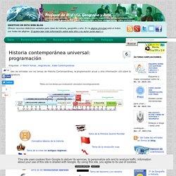 Historia contemporánea universal: programación