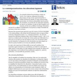 La «contemporanéisation» des allocations logement