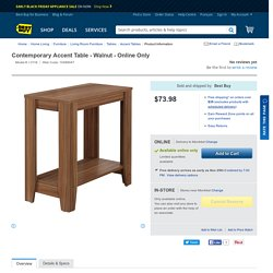 Contemporary Accent Table - Walnut : Accent Tables