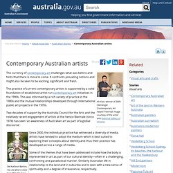 Contemporary Australian artists