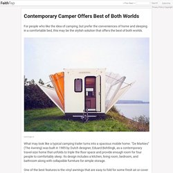 Contemporary Camper Offers Best of Both Worlds