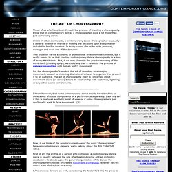 Contemporary Dance Choreography
