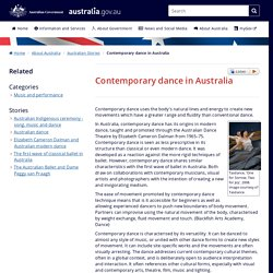 Contemporary dance in Australia