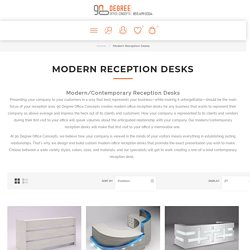 Contemporary Reception DesksModern-Style Office Furniture Your Way
