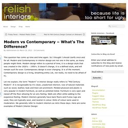Modern vs Contemporary – What's The Difference?