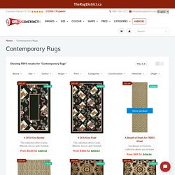 Buy Contemporary Rugs in Canada at Discounted Prices