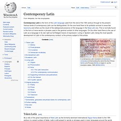 Contemporary Latin