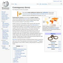 Contemporary slavery