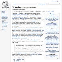 Slavery in modern Africa