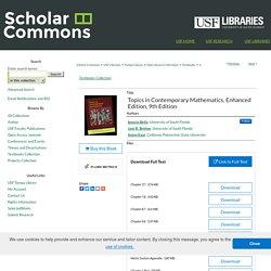"""Topics in Contemporary Mathematics, Enhanced Edition, 9th Edition"" by Ignacio Bello, Jack R. Britton et al."