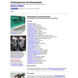 Contemporary Art Movements (1970-present)
