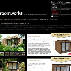 Garden Rooms in UK – Contemporary Offices & Studios by Roomworks - Roomworks