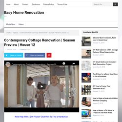 Contemporary Cottage Renovation