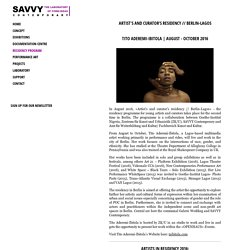 SAVVY Contemporary e.V. .:. Residency Program