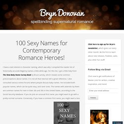 100 Sexy Names for Contemporary Romance Heroes!