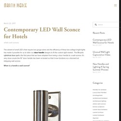 Contemporary LED Wall Sconce for Hotels — Martin Pierce