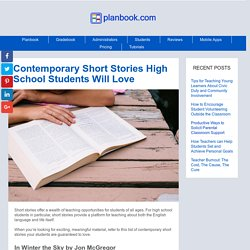 Contemporary Short Stories High School Students Will Love
