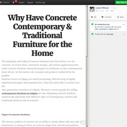 Why Have Concrete Contemporary & Traditional Furniture for the Home