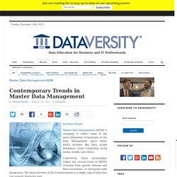 Contemporary Trends in Master Data Management