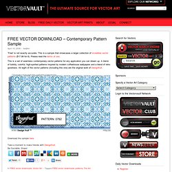 FREE VECTOR DOWNLOAD – Contemporary Pattern Sample – VECTORVAULT - Free Vector Downloads & Vector Art from Around the World