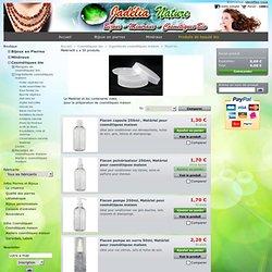 Matériel et contenants vides pour la préparation de cosmétiques maison - Jadelia Nature