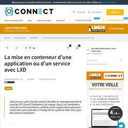La mise en conteneur d'une application ou d'un service avec LXD