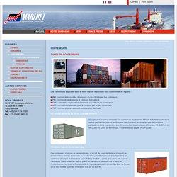 Types de conteneurs - Conteneurs - MARFRET Compagnie Maritime