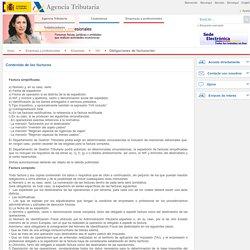 Contenido de las facturas - Agencia Tributaria