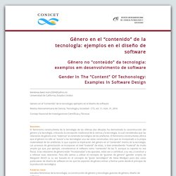 """Género en el """"contenido"""" de la tecnología: ejemplos en el diseño de software"""