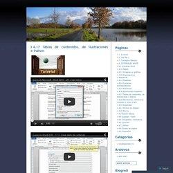 4.17 Tablas de contenidos, de ilustraciones e índices