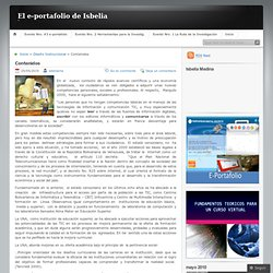 Contenidos « El e-portafolio de Isbelia