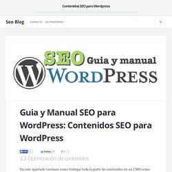 Contenidos SEO para Wordpress - Guía y manual de SEO para Wordpress