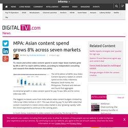 MPA: Asian content spend grows 8% across seven markets – Digital TV Europe
