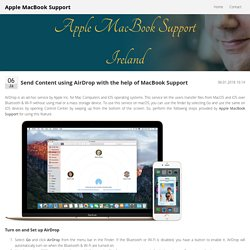Send Content using AirDrop with the help of MacBook Support