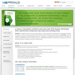 Provalis Research - WordStat > Description