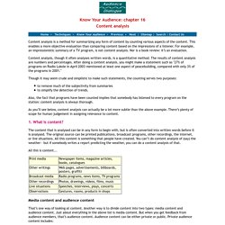Content analysis - what is content analysis?