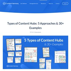 Types of Content Hubs: 5 Approaches & 30+ Examples - Content Harmony