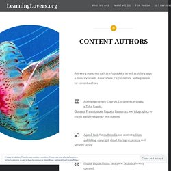CONTENT AUTHORS – LearningLovers.org