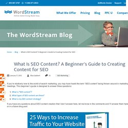 What Is SEO Content? A Beginner's Guide to Creating Content for SEO