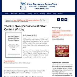 The Site Owner's Guide to SEO for Content Writing