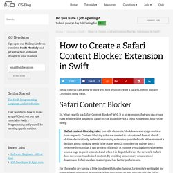 How to Create a Safari Content Blocker Extension in Swift - iOS-Blog