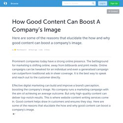 How Good Content Can Boost A Company's Image