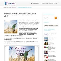 Thrive Content Builder maakt jouw website makkelijk