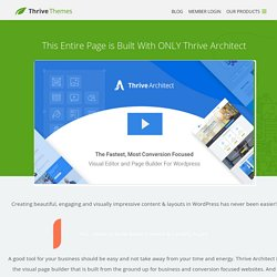 Thrive Content Builder - Live WordPress Front End Editor