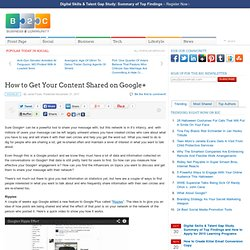 How to Get Your Content Shared on Google+