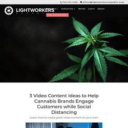 Video Content Ideas Cannabis Brands can Use to Create Content