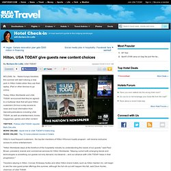 Hilton, USA TODAY give guests new content choices